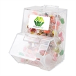 Candy Dispenser with Jelly Beans - Clear, BPA-free candy dispenser filled with 80 jelly beans, comes with mini scoop