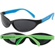 Tropical Wrap Sunglasses - Wrap-style sunglasses available in several colors with protective lenses featuring a UV 400 rating.