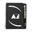 """5"""" x 7"""" Huntington Notebook with Pen - 5"""" x 7"""" spiral notebook available in multiple colors with 70 lined pages and your choice of pen."""
