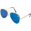 Flat Front Aviator Sunglasses - Aviator-style sunglasses with gold frames and UV protection