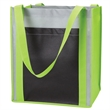 Color Combination Large Non-Woven Grocery Tote With Pocket