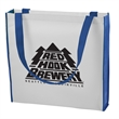 """Color Combination Non-Woven Convention Tote - 15"""" x 15"""" x 3 1/2"""" tote bag made from 80 GSM non-woven polypropylene with 30"""" handles and a 3 1/2"""" gusset."""