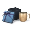 18 oz stainless steel copper plated Siberian Mule Gift Set - Gift box with 18 oz. Siberian  Mule copper mug
