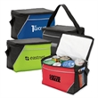 9-Can Cooler Bag - 210D poly cooler bag with PEVA lining.