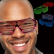 LED Slotted EL Sunglasses - Variety of Colors - Light up any event with our futuristic looking White LED El Slotted glasses.