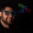LED EL Sunglasses - Variety of Colors - Light up any event with our futuristic looking White LED El Slotted glasses.