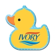 Rubber Duck Shaped Full Color Coaster - Rubber duck-shaped full-color coaster made of cork