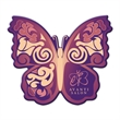 Butterfly Shaped Full Color Coaster - Butterfly-shaped full-color coaster made of cork