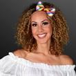 White LED Rainbow Stripe Bow Ties