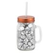 20 oz Glass Vintage Jackie Mason Jar with Fills - 20 oz. glass mason jar