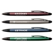 JayKay™ Stylus Pen - 2-in-1 plastic pen with a twist-action ballpoint, black ink, stylus and shimmering metallic finish.