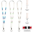 White Dye Sublimation Lanyards With Full Color Imprint