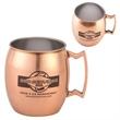 Copper Color Plated Stainless Steel Mug-Barrel Shape - Copper Color Plated Stainless Steel Mug-Barrel Shape