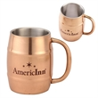 Copper Color Plated Double-Wall Moscow Mule Style Mug - Copper Color Plated Double-Wall Stainless Steel Mug