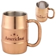 17 Oz Copper Color Plated Double-Wall Stainless Steel Mug - 17 Oz Copper Color Plated Double-Wall Stainless Steel Mug