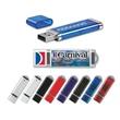 Slim Plastic USB drive - Chrome accents W/ key-loop