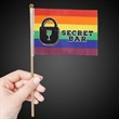 """Rainbow Cloth Flag 4"""" x 6"""""""