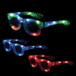 Light-Up Iconic Glasses - Adult-sized light-up eyeglasses made of plastic.