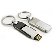 Keyring with Chrome steel Swivel USB drive