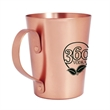 15 OZ COPPER COATED ALUMINUM  MOSCOW MULE - Copper Moscow Mule Mug crafted from aluminum with copper plated exterior and riveted handle.
