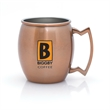 FEDOR 12 OZ MOSCOW MULE MUG - 12 oz. Copper Coated Moscow Mule Mug with Stainless Steel Interior Copper Coated Exterior