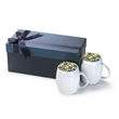 2- 14oz  Rotunda ceramic mug Gift Set - Gift set with two 14 oz. ceramic mugs in a luxurious gift box with optional candy fill