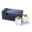 Two Piece White ceramic mug Gift Set w/ Gummy Bears Rotunda - Gift set with two 14 oz. ceramic mugs in a luxurious gift box with Gummy Bears.