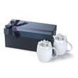 2PC White ceramic mug Gift Set w/Hershey Kisses Rotunda - Gift set with two 14 oz. ceramic mugs in a luxurious gift box with Hershey Kisses.