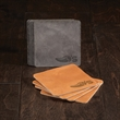 """TANNER Set of 4 Leather Coasters - Set of four 4"""" x 4"""" leather coasters, available in several colors and made in the USA."""