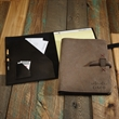 """TASKER Leather Padfolio - USA-made 9 1/2"""" x 12 1/2"""" x 3/4"""" leather padfolio, available in several colors with 11 Irish waxed linen accent stitching colors."""