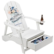 "Adirondack Chair with Cooler - 42"" x 13"" x 28"" Adirondack chair with innovative cooler underneath and drink holder in both arms."