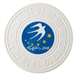 Greek Aquaguard Coaster - Greek design ceramic coaster absorbs all moisture. Cork backing for protecting furniture.