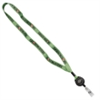 "5/8 Tubular Polyester Dye Sublimated Lanyard - 5/8"" tubular lanyard made of polyester with a retractable badge reel."