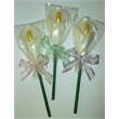 Easter Lily Pop - White Chocolate Easter Lily Flower lolipop.