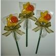 Fancy Daffodil Flower Pop - Chocolate Daffodil Sucker