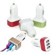 3-port USB car charger 2.1 Amp fast charging cable