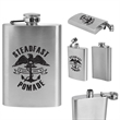 Stainless Steel Flask 4 oz - Personal 4 ounce stainless steel flask with a screw on top.