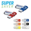 "USB Flash Drive Swing Drive™SW-SV - Hi-Speed USB 2.0 flash drive measuring 2 1/4"" long with a metal swivel."