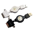 3-in-1 USB Retractable Charging Cable