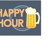 "Magnetic Floor Talker Signage -""Happy Hour (Beer Mug)"" - Magnetic full-color floor talker sign, ""Happy Hour"" with beer mug artwork"