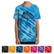 Port & Company Youth Tiger Stripe Tie-Dye Tee - 5.4 oz. youth tie-dye tiger stripe shirt made from 100% cotton