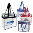 Clear Stadium Zipper Tote Bag - Clear stadium zippered tote bag.