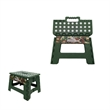 Plastic Folding Stool Convenient Chair Collapsible Bench - Plastic folding step stool with built in carrying handle.