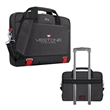 """Solo® Envoy Slim Brief - 2.25"""" x 12"""" x 16"""" Solo Envoy slim brief with RFID-blocking valuables pouch; holds laptops up to 15.6""""."""