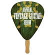 Digital Guitar Pick Fast Fan w/ Wooden Handle - Guitar Pick shaped fast fan made from high density 22, pt thickness stock material.