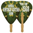 Digital Guitar Pick Fast Fan w/ Wooden Handle - Digital Guitar Pick shape fast fan with wooden stick.