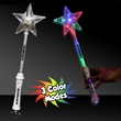 "15"" Multi Color LED Light Up Glow Star Wand"