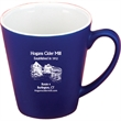 12 oz. Funnel Mug Matte Color with White Gloss Inside - 12 oz. Funnel mug cobalt blue matte or maroon matte with white gloss Inside.
