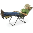 Outdoor Folding Chair - Outdoor folding recliner chair with double bungee cord system and adjustable headrest. Gravity.