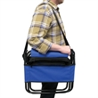 Outdoor Folding Chair - Outdoor folding chair with zip around insulated cooler and exterior compartment. Relaxer.